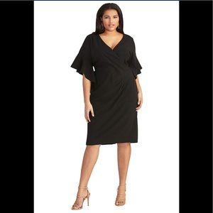RACHEL Rachel Roy, Plus Size Capri,Black,NWT